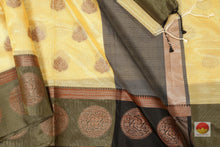 body, border and pallu of banarasi silk cotton saree