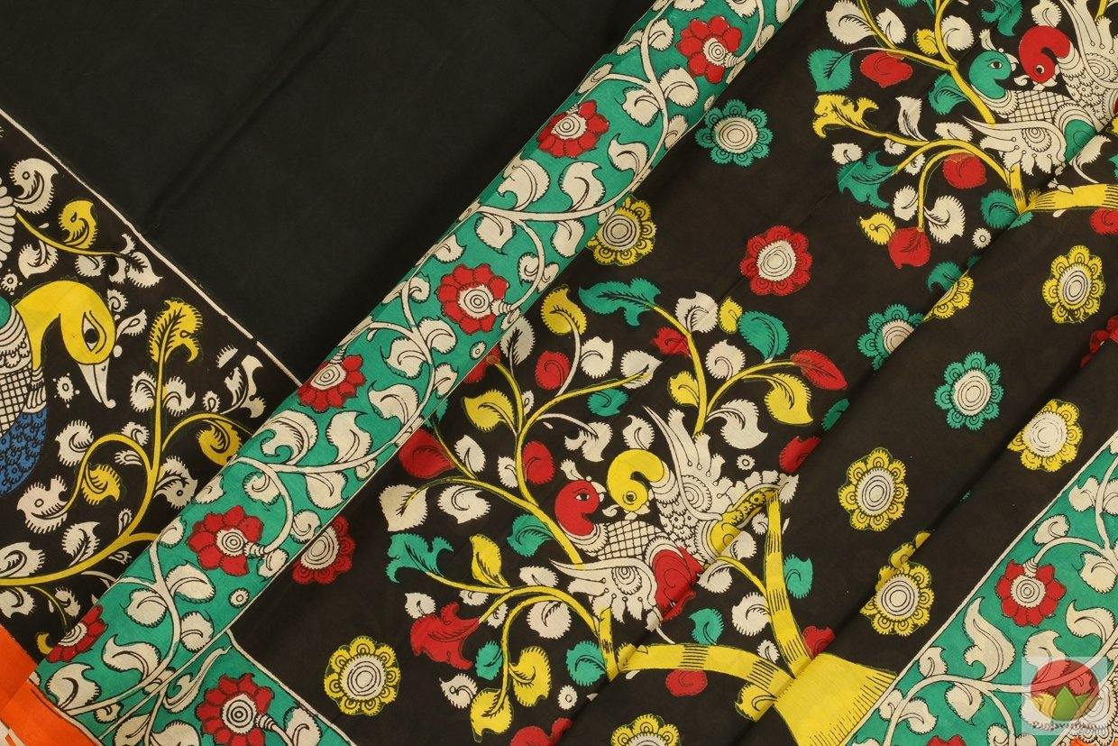 Handpainted Kalamkari Silk Saree - Organic Dyes - PKM 275 Archives