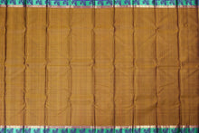 Full view of body of mustard kanjivaram saree
