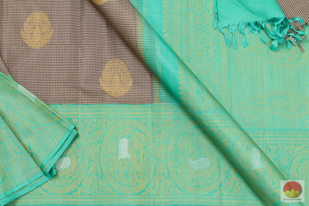 Kanchipuram Silk Saree - Handwoven Pure Silk - Pure Zari - PVASB 14