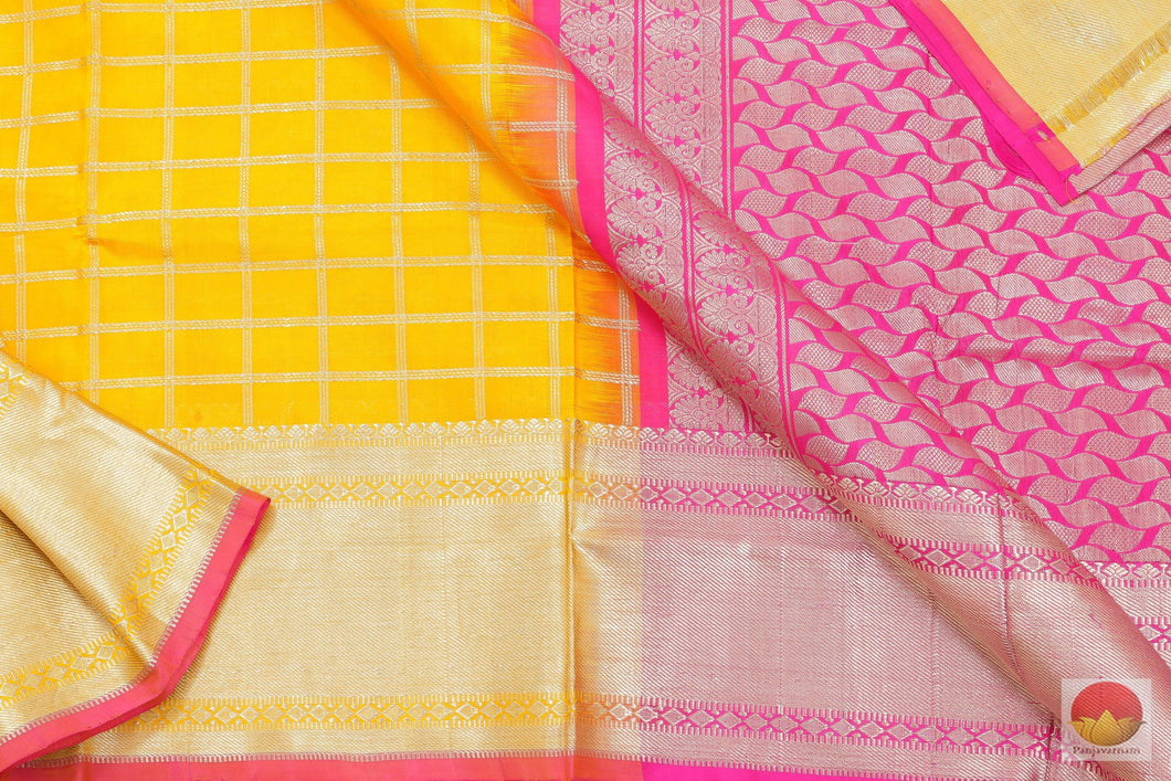 Kanchipuram Silk Saree - Handwoven Pure Silk - Pure Zari - PV SVS 2062 Archives