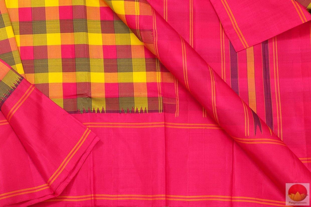 fabric deail of kanjivaram silk saree