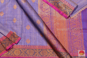 body, border and pallu of banarasi matka silk saree