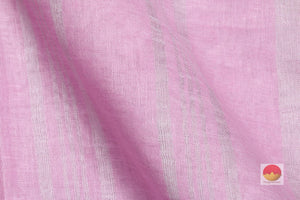 fabric detail of yarn in handwoven linen saree