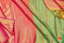 Load image into Gallery viewer, body and pallu of tissue silk saree