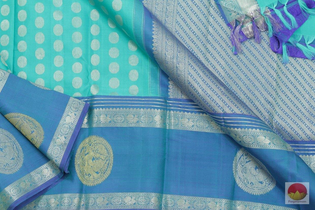 Kanchipuram Silk Saree - Handwoven Pure Silk - Pure Zari - PV SVS 2046 Archives