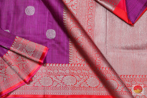 body, border and pallu of matka silk saree