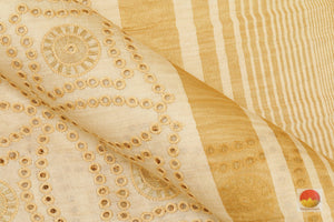fabric detail of tussar silk saree
