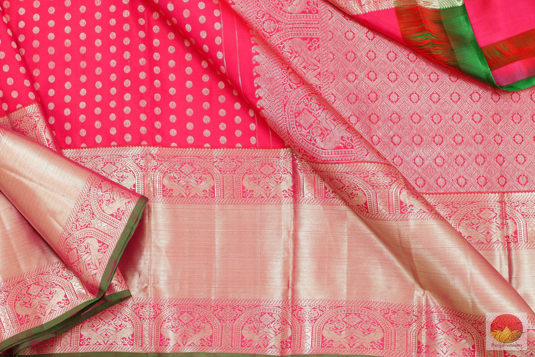 Kanchipuram Silk Saree - Handwoven Pure Silk - Pure Zari - PV SVS 2031 Archives
