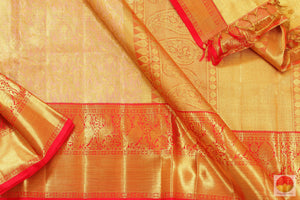 body, border and pallu detail of kanchipuram pure silk saree