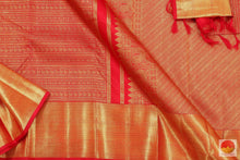 Load image into Gallery viewer, Red & Gold - Handwoven Pure Silk Kanjivaram Saree - Pure Zari - PV G 2017 Archives