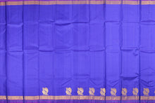blue traditional kanjivaram pure silk saree
