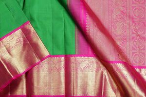 drape of traditional design kanjivaram pure silk saree