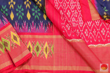 body, border and pallu of pochampally silk saree