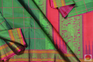 Lite Weight Handwoven Pure Silk Kanjivaram Saree - No Zari - PV 4689