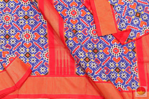 Patan Patola - Double Ikkat Silk Saree - Handwoven Pure Silk - PIK - 14 -4