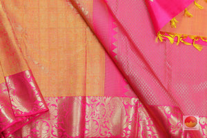 body, border and pallu of bridal kanjivaram saree
