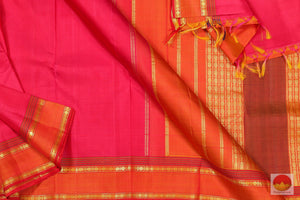 Lite Weight Handwoven Pure Silk Kanjivaram Saree - PV G 1865