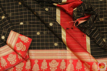 body border and pallu of banarasi silk cotton saree