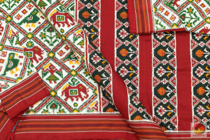 fabric detail of patan patola silk saree