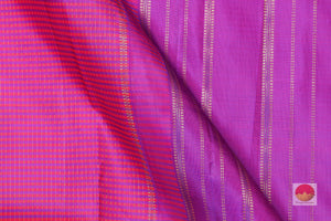 body and pallu of pink kanjivaram pure silk saree