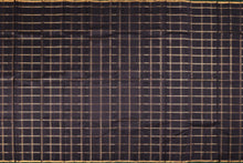 black body with zari checks in kanjivaram silk saree