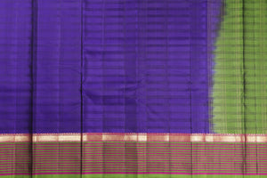 purple body of kanjivaram pure silk saree