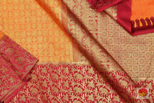 body, border and pallu of kanjivaram pure silk saree