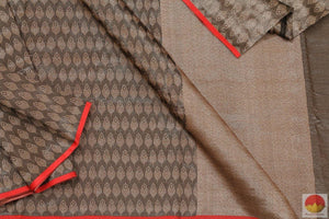 fabric detail of banarasi organza silk saree