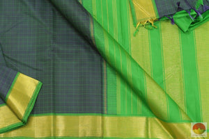 Kanchipuram Silk Saree - Handwoven Pure Silk - Pure Zari - PV G 4053 Archives