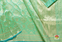 border, border and pallu of banarasi pure silk saree