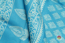 fabric detail of silk yarn in batik silk saree