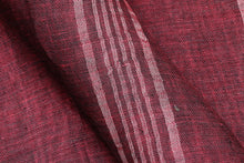 Handwoven Linen Saree - Silver Zari - PL 46 Archives