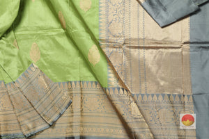 fabric detail of yarn in banarasi silk saree
