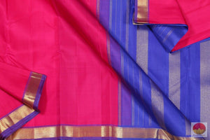 body, border and pallu of pink kanchipuram saree