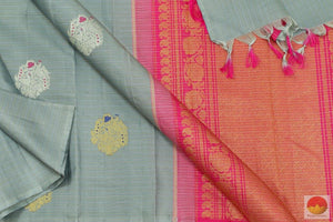 fabric detail of kanchipuram saree