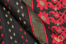 fabric detail of yarn in dakhai jamdani cotton saree