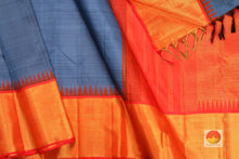 body and border of temple border handwoven kanjivaram saree