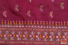 design detail of tussar silk saree