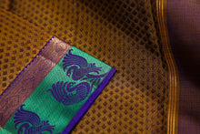 drape view of pure silk kanjivaram saree