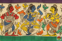 border design of kalamkari silk saree