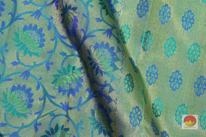 fabric detail of silk yarn in bridal  kanjivaram silk saree