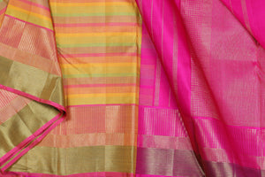 Traditional design kanjivaram pure silk saree