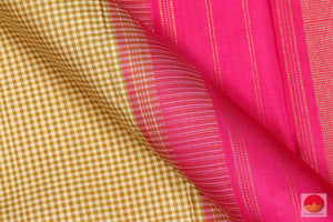 Temple Border - Handwoven Pure Silk Kanchipuram Saree - Pure Zari - PV 6437 Archives