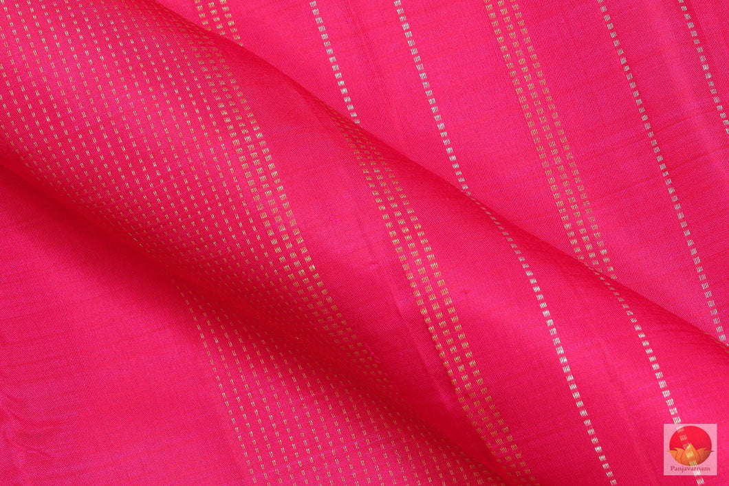 Kanchipuram Silk Saree - Borderless Handwoven Pure Silk - Pure Zari - PV G 1998 Archives