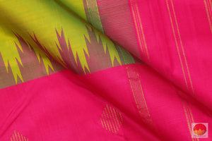 Temple Border - Traditional Design Handwoven Pure Silk Kanchipuram Saree - Half and Half - PV G 1921 S Archives
