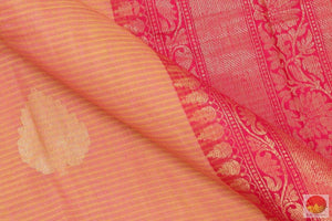 Handwoven Banarasi Silk Cotton Saree - PSC 581 Archives