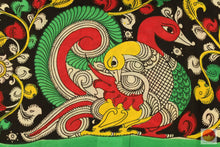 design detail of kalamkari silk saree