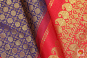 Traditional Design Handwoven Pure Silk Kanjivaram Saree - Pure Zari - PV G 1822
