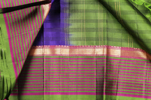 border and body detail of kanjivaram handwoven saree